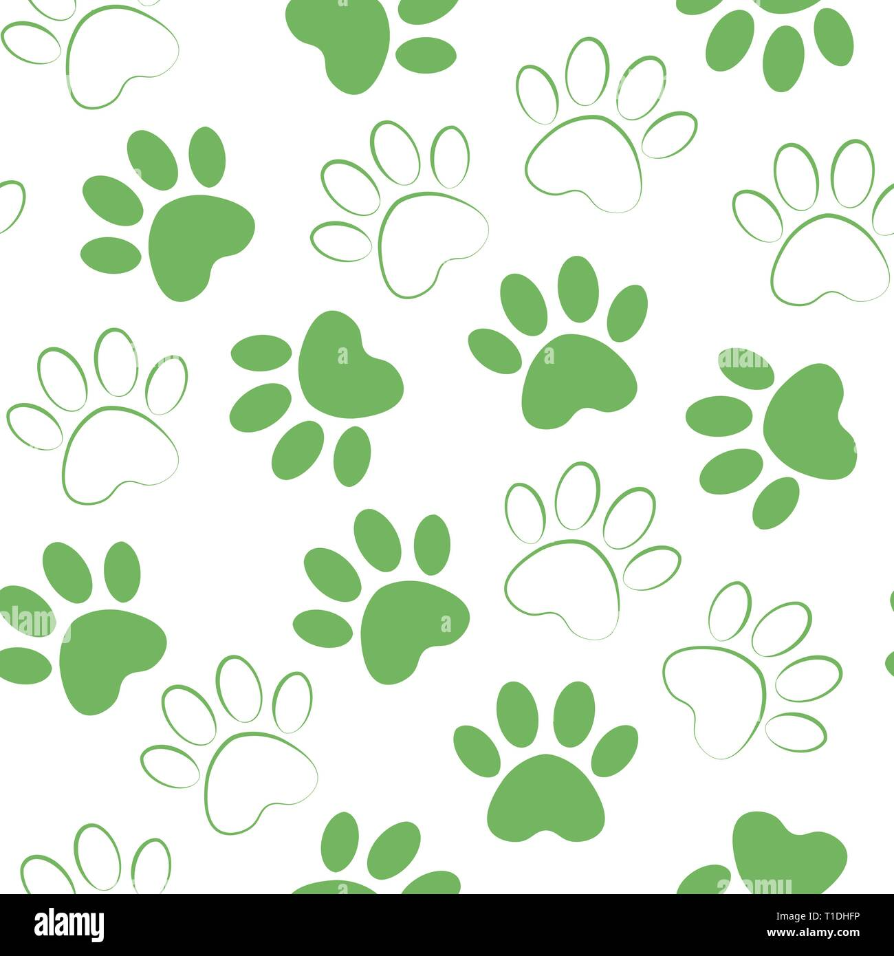 5286fc0f618c backdrop with silhouettes of cat or dog footprint. Vector illustration  animal paw track pattern. Paw print seamless.