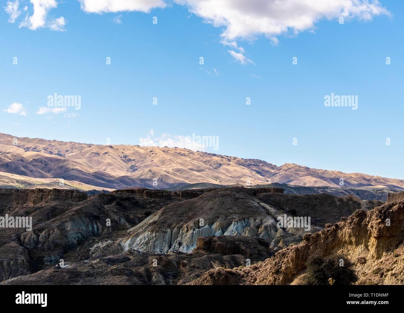 The Bannockburn Sluicings, Central Otago, NZ - Stock Image