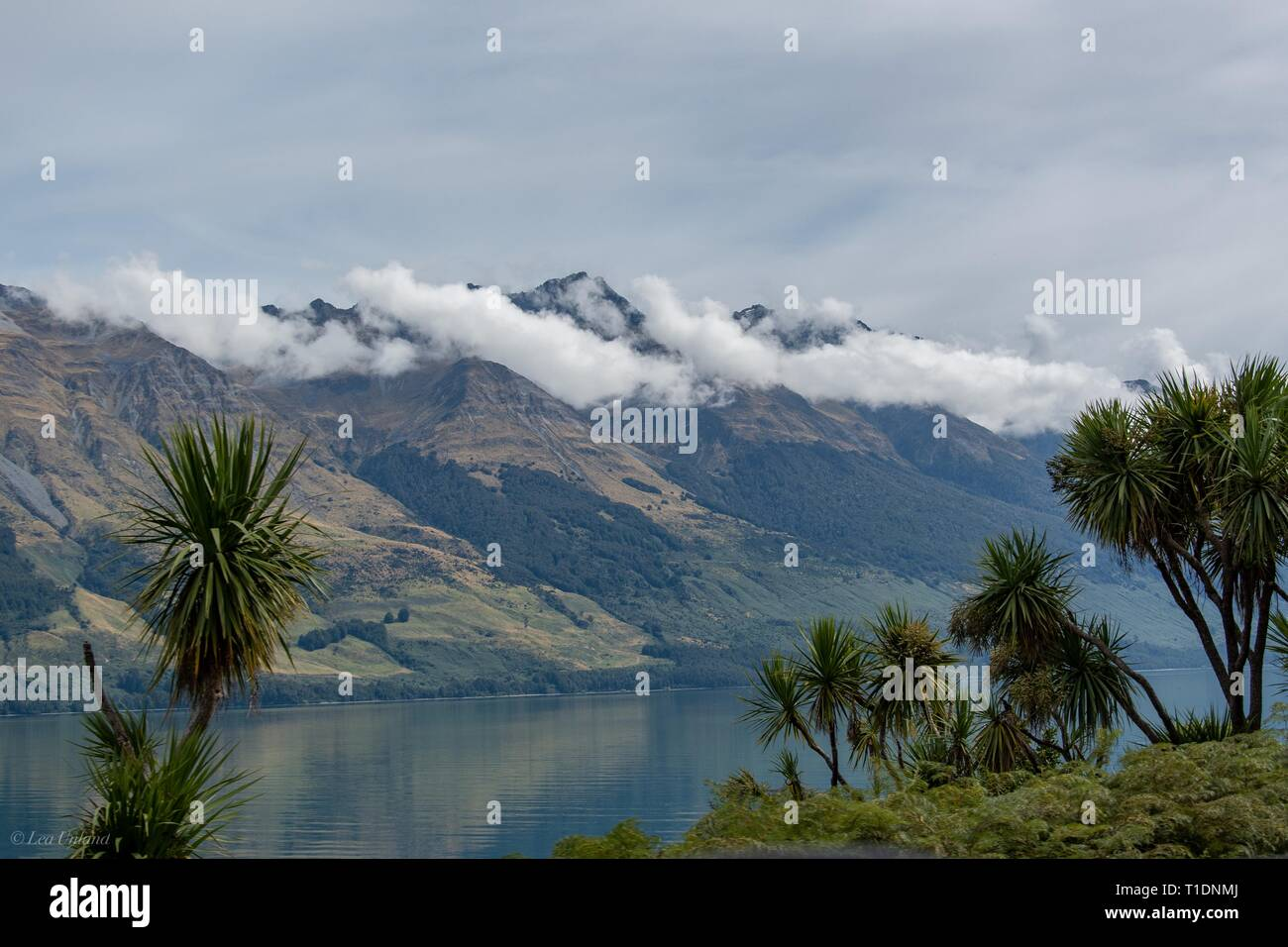 The Remarkables, captured from Glenorchy Road, NZ - Stock Image