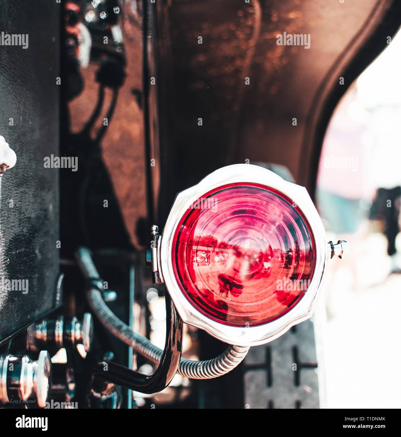 Backlight of a beautiful Oldtimer - Stock Image