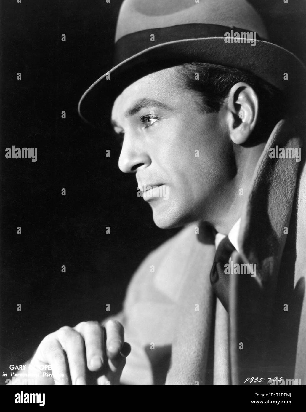 GARY COOPER 1936 Portrait Classical Hollywood Superstar Paramount Pictures Inc. - Stock Image