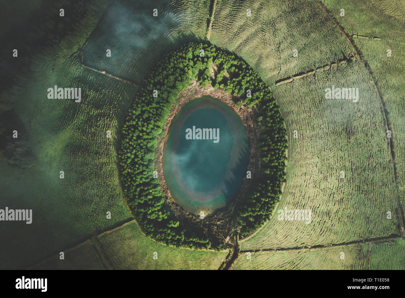 Drone Photography Lagoon - Stock Image
