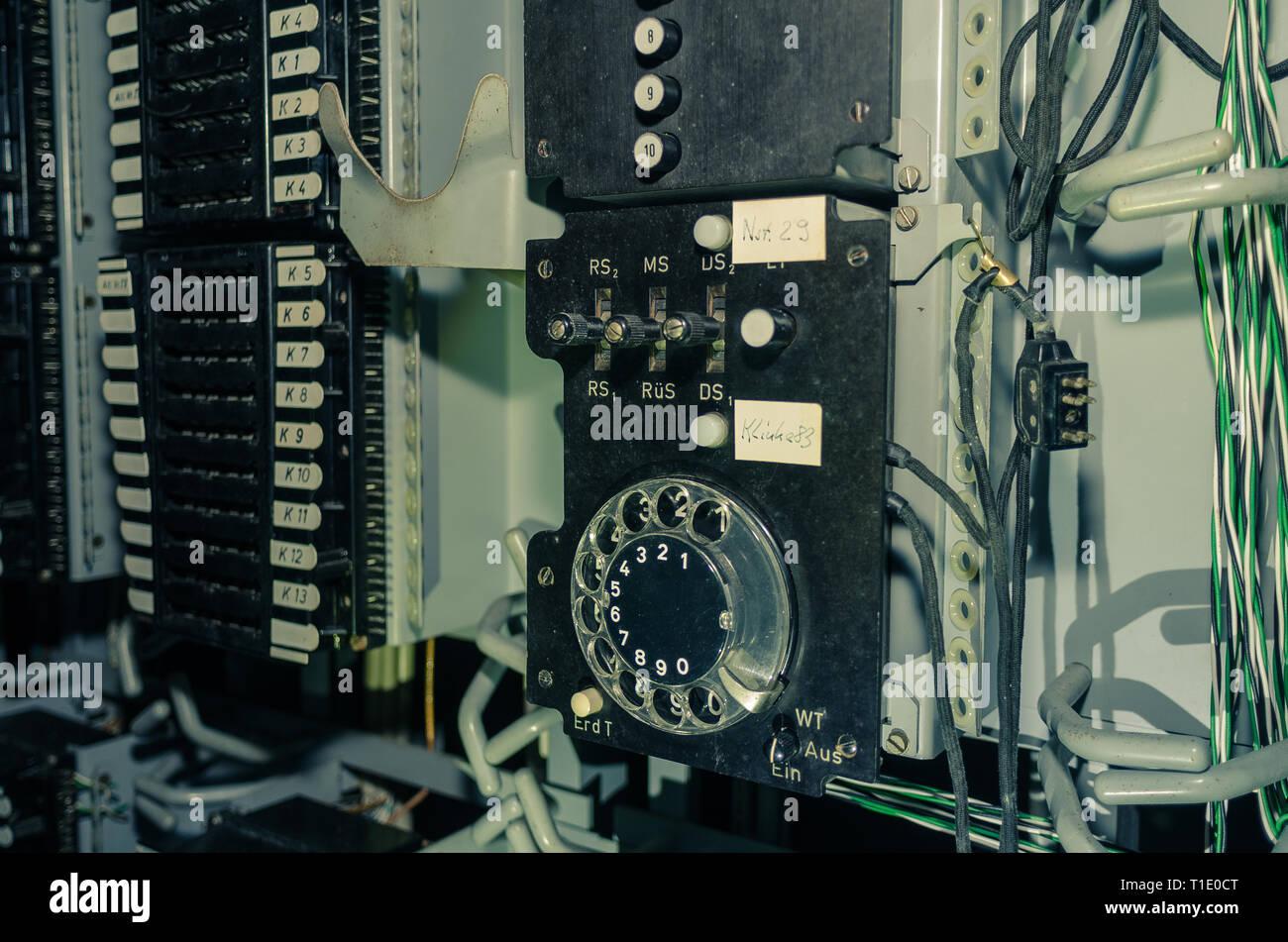 Alte Vermittlungstechnik Stock Photo