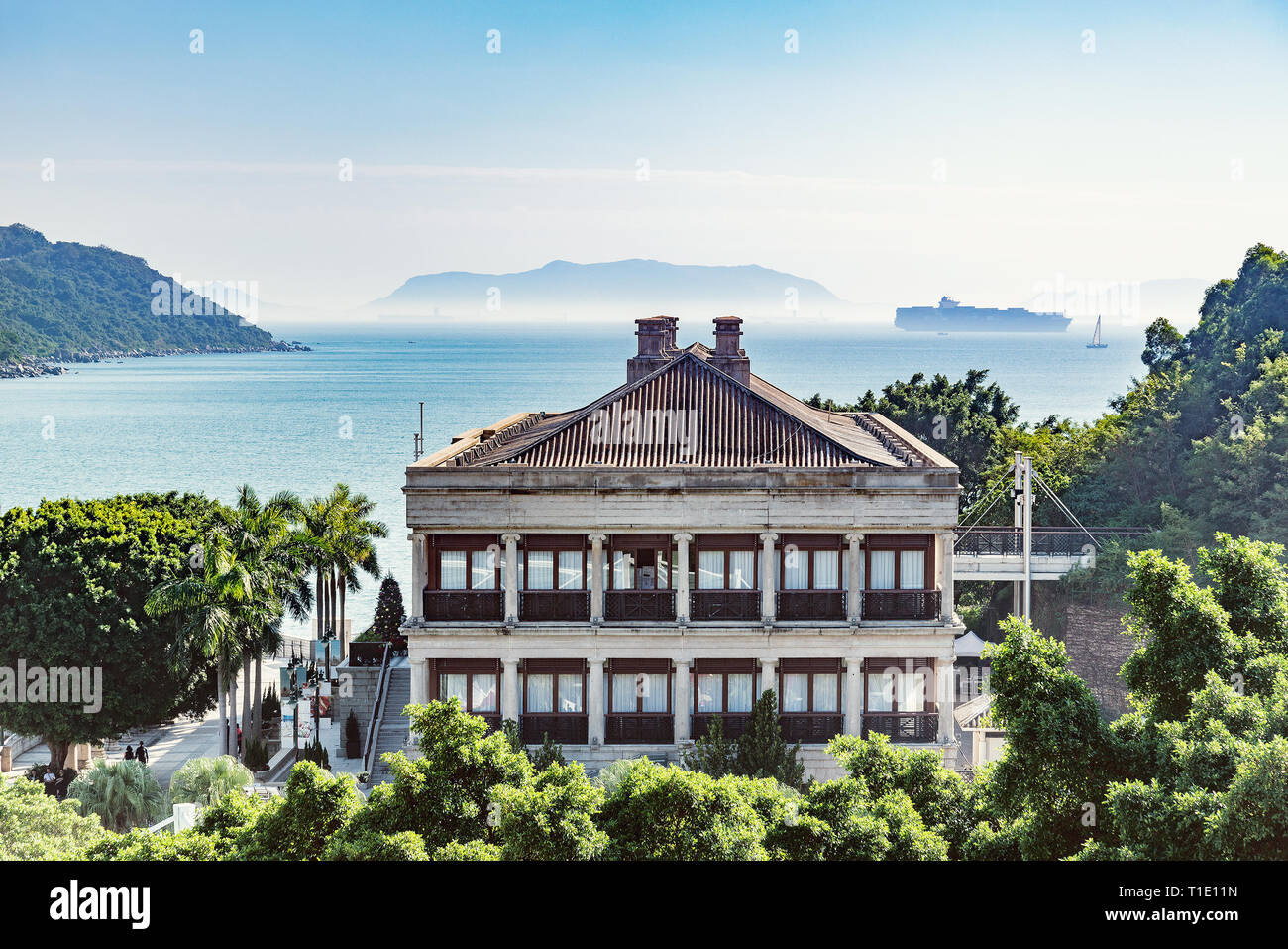 Murray house in Stanley town. Hong Kong. - Stock Image