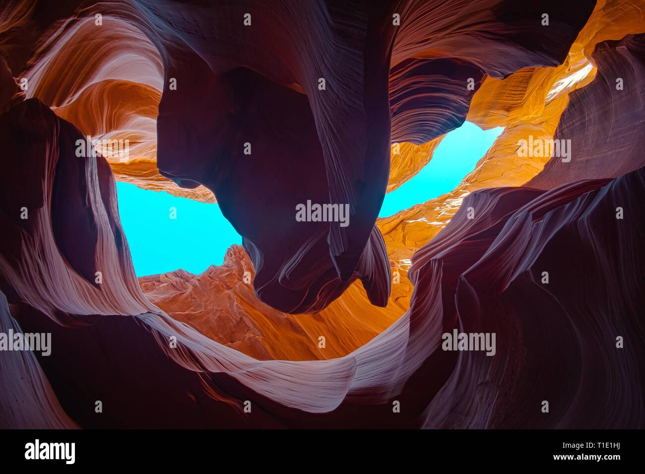Lower Antelope Slot Canyon Stock Photo