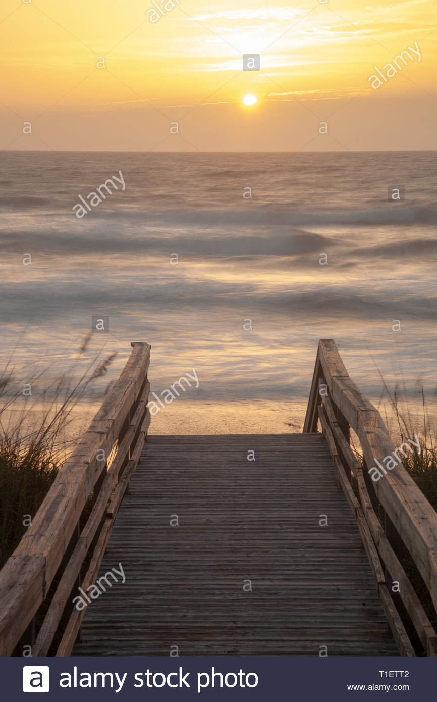 Sunrise, Guana Tolomato Matanzas National Estuarine Research Reserve, Florida - Stock Image