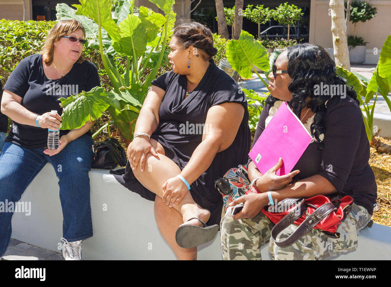 Miami Florida Shops at Midtown The Biggest Loser TV show reality television audition tryout casting overweight obese fat contest - Stock Image