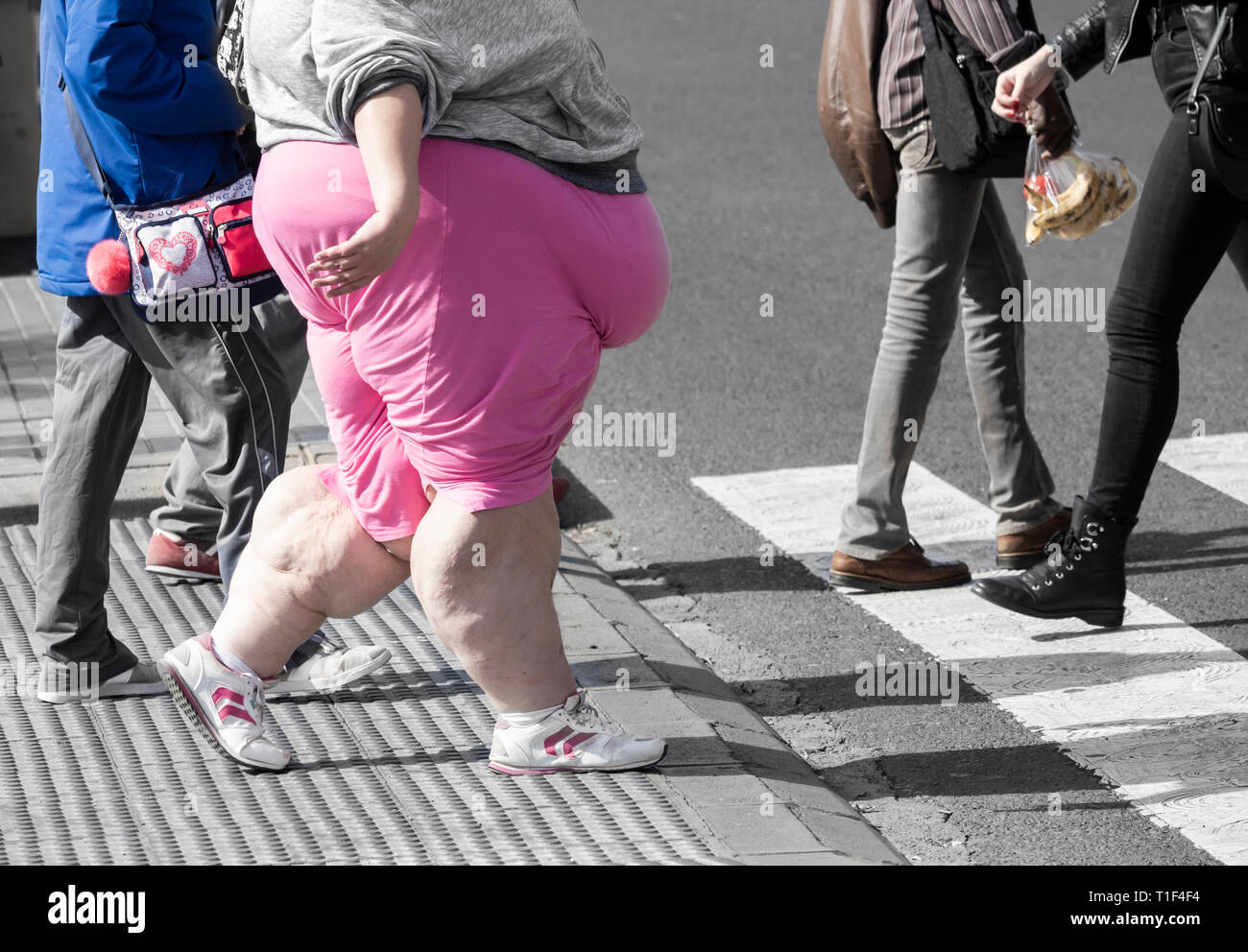 Fat Person Walking High Resolution Stock Photography And Images Alamy