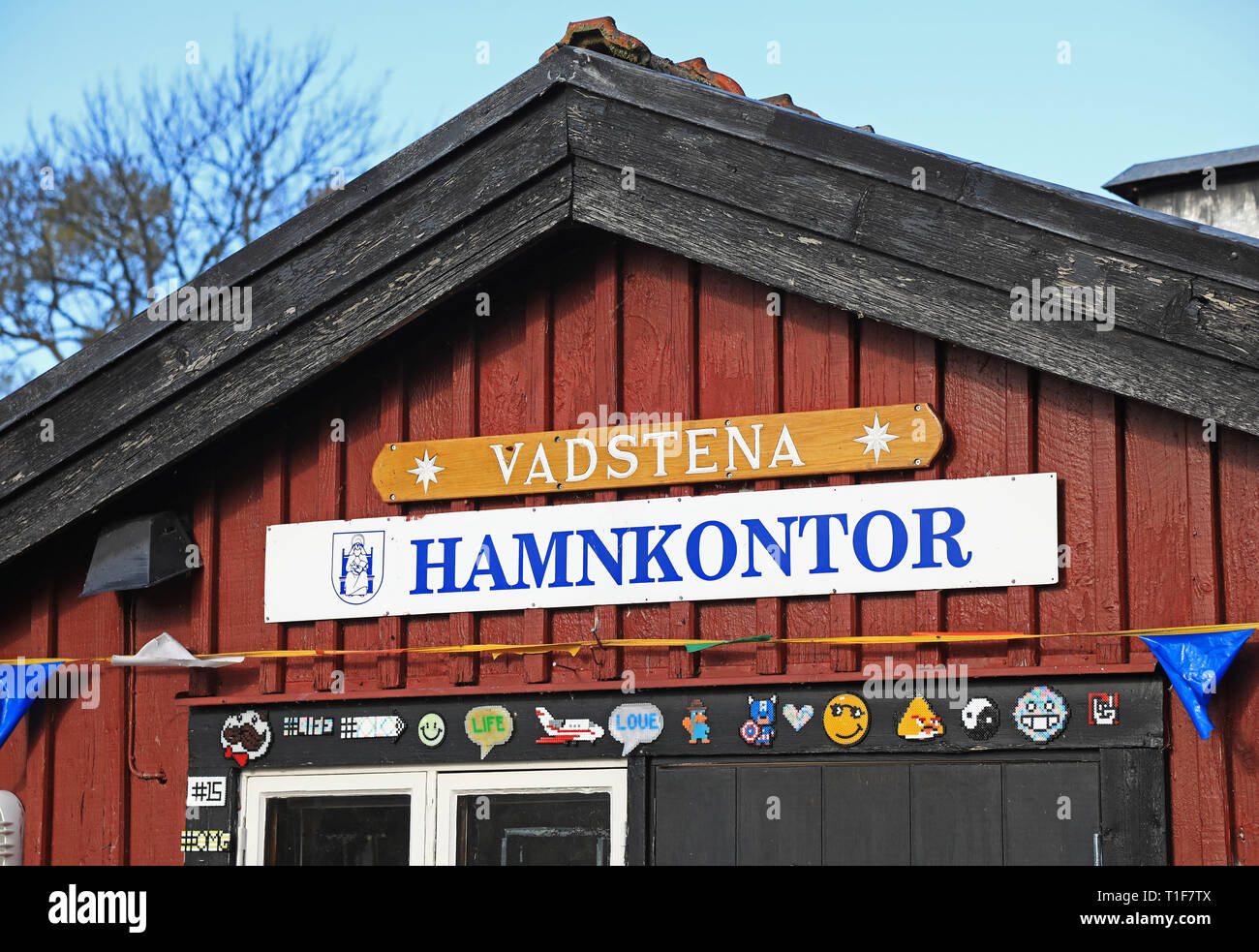 VADSTENA 20171013 A harbor office in the port of Vadstena. Photo Jeppe Gustafsson - Stock Image