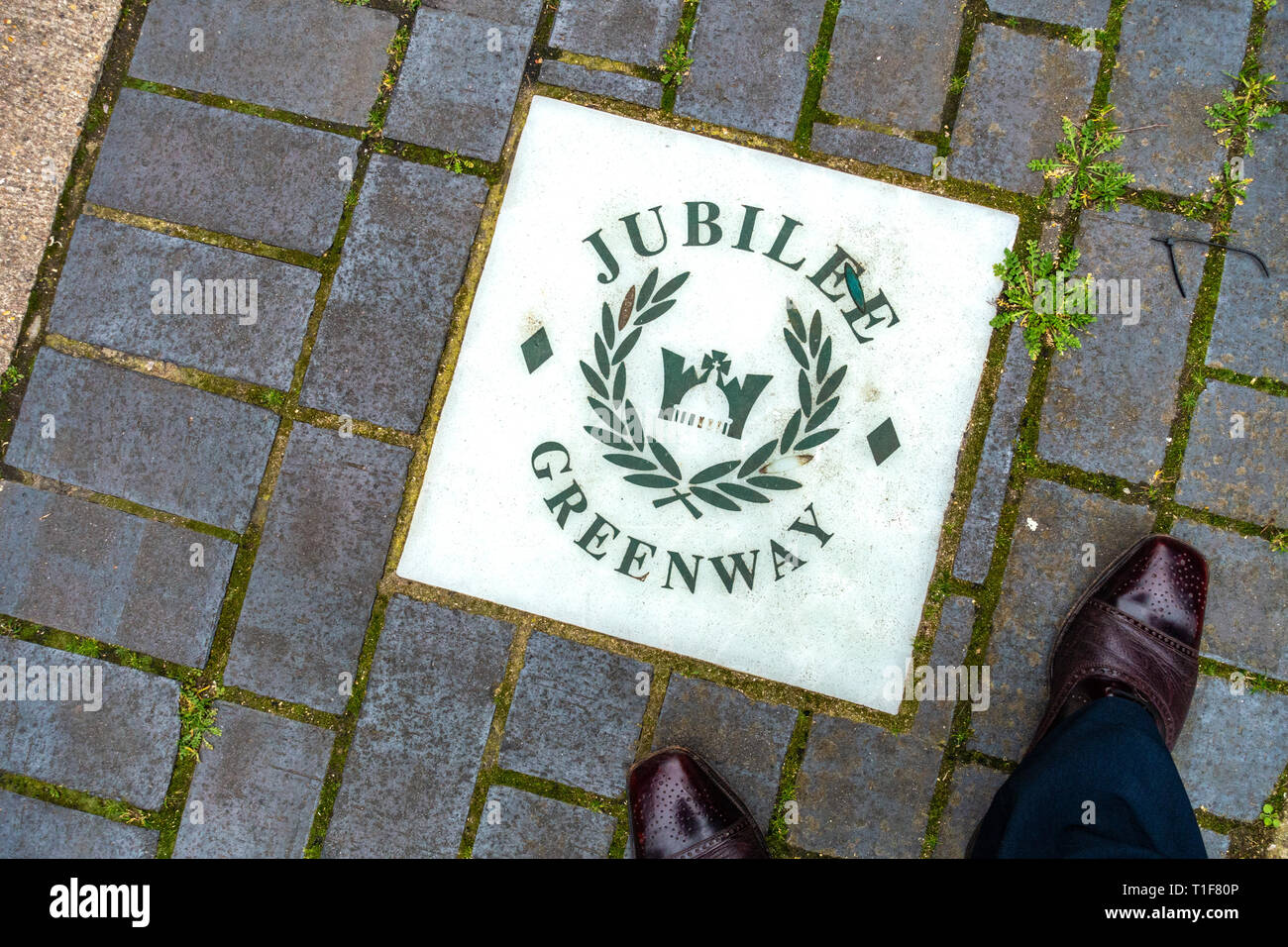 The Jubilee Greenway was created to celebrate the Diamond Jubilee, linking the West End of London with the East End - Stock Image