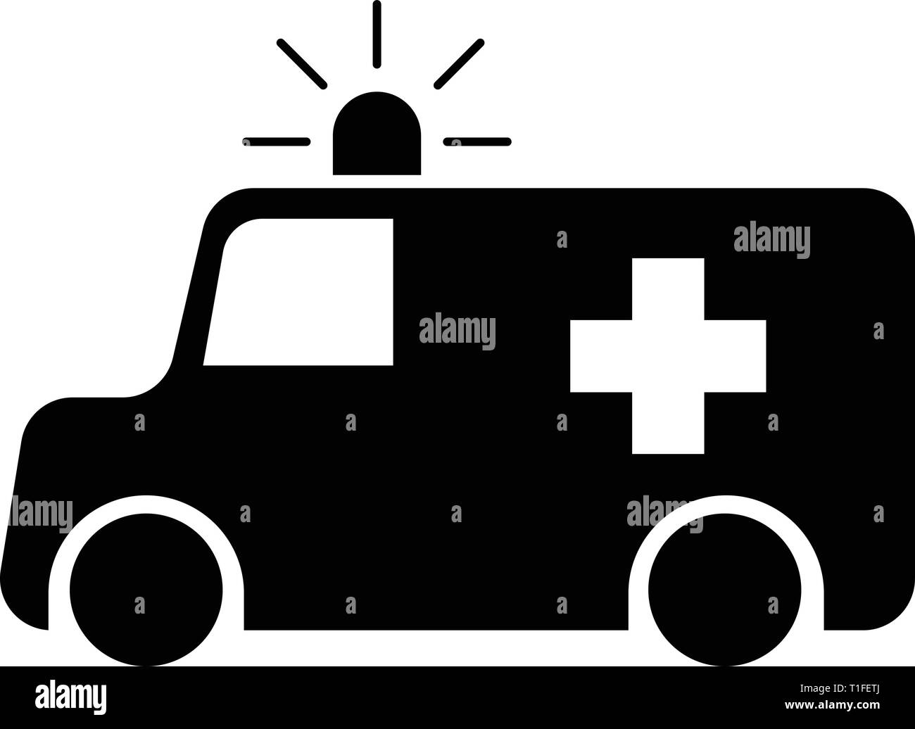 Ambulance Icon Vector - Stock Image