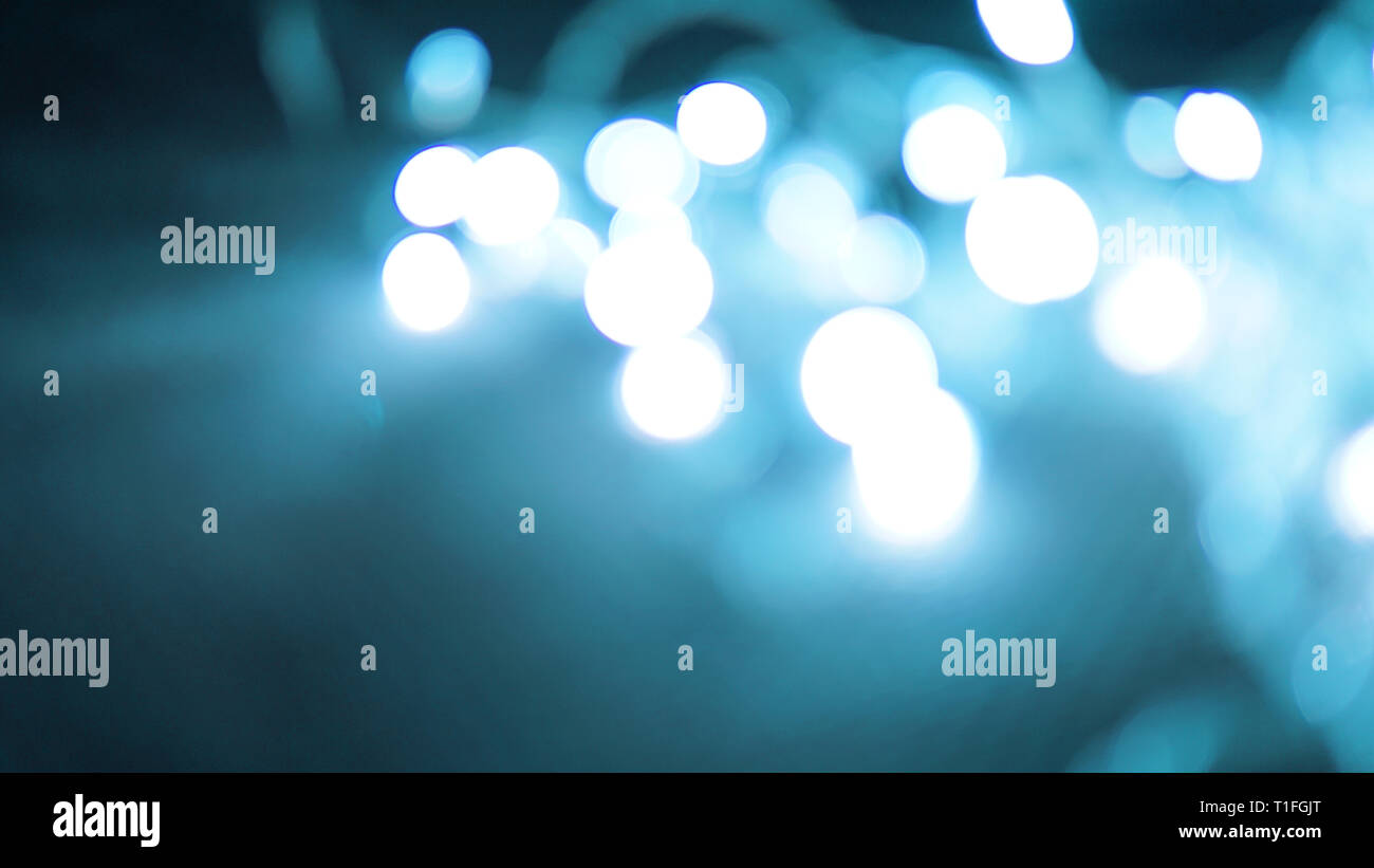 Holiday blue lights - can be used for background - Stock Image
