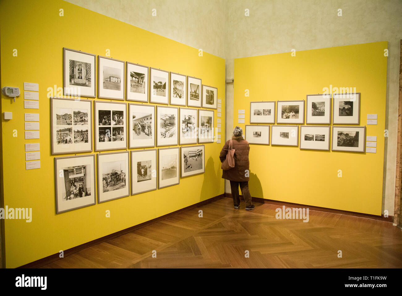On the occasion of the 180th anniversary of the birth of photography, an extraordinary selection of images from the Photographic Archive in the exhibition 'Rome in the dark room. Photographs of the city from the nineteenth century to the present' (Photo by Matteo Nardone/Pacific Press) - Stock Image
