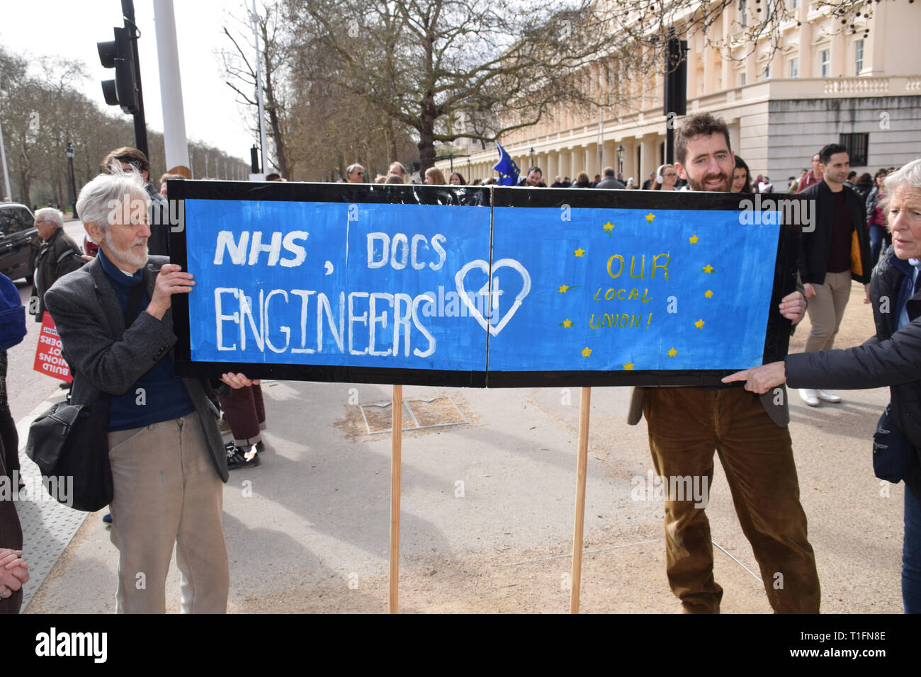 Put it to the People demonstration in central London against Brexit and an appeal for a Peoples Vote on a final Deal. London UK 23 March 2019 - Stock Image