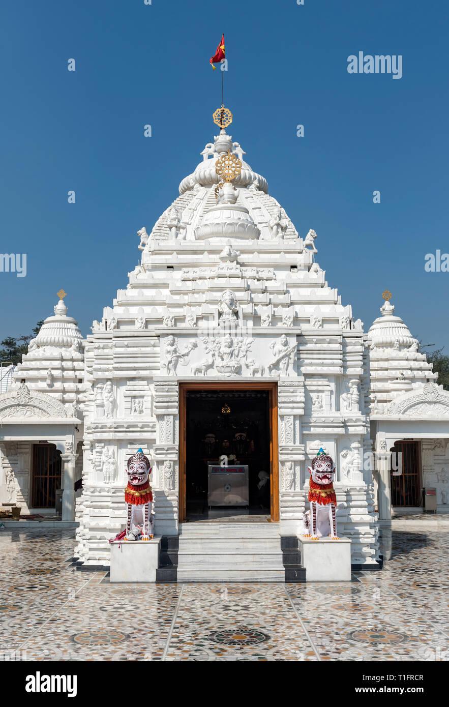 Shree Neelachala Seva Sangha Jagannath Temple, Hauz Khas, South Delhi, India - Stock Image