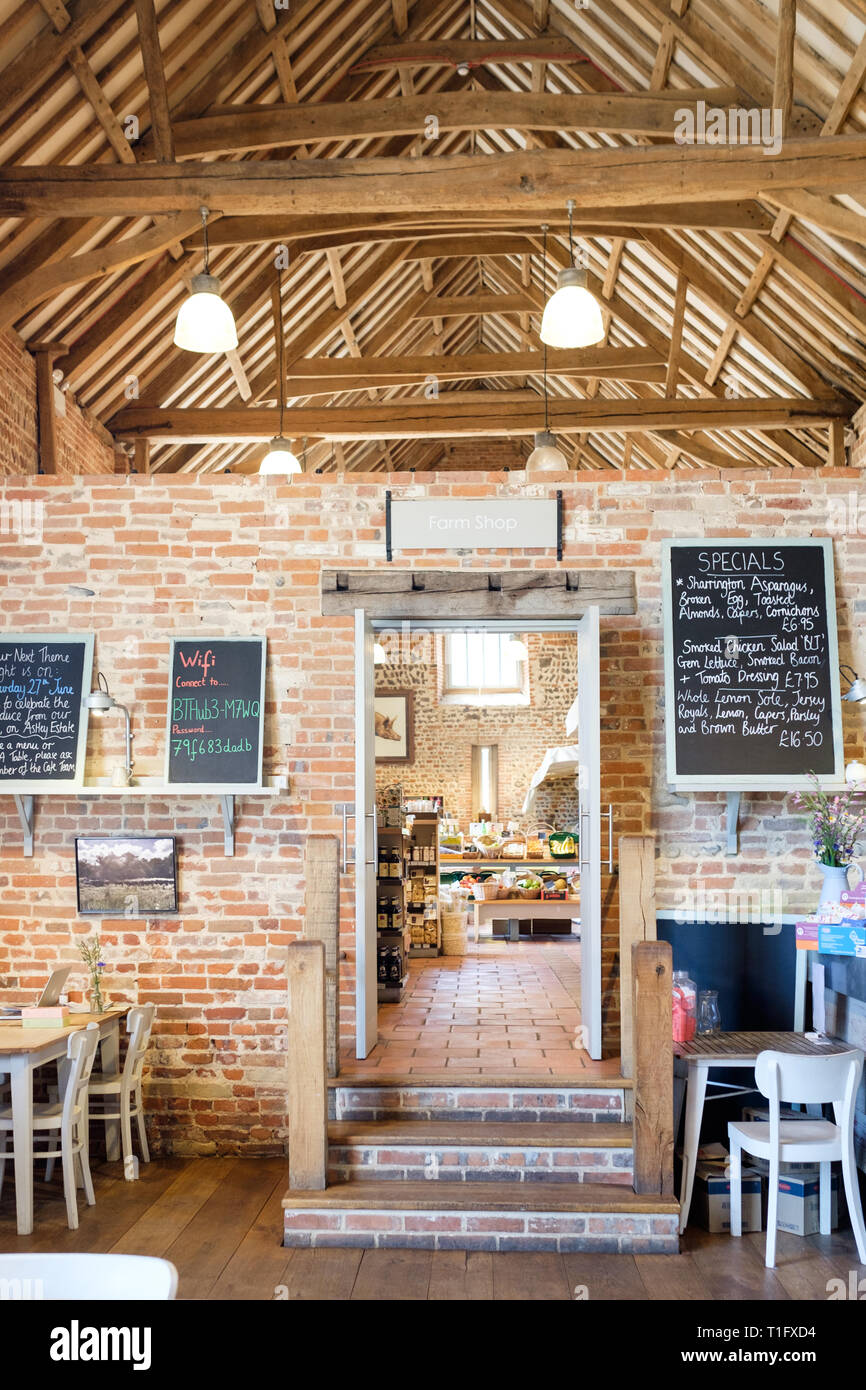 1a76d567d2b Interior of Back to the Garden farm shop and cafe in Letheringsett ...