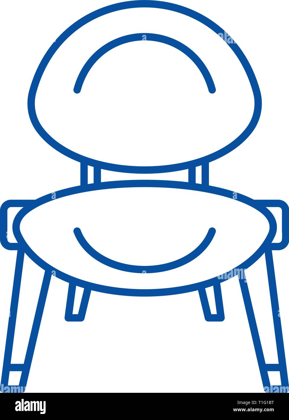 Baby chair line icon concept. Baby chair flat  vector symbol, sign, outline illustration. - Stock Vector