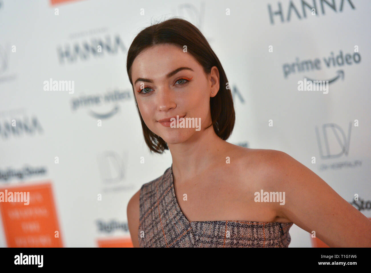 Violett Beane attends the Rolling Stone's Women Shaping The Future Brunch at the Altman Building on March 20, 2019 in New York City. - Stock Image