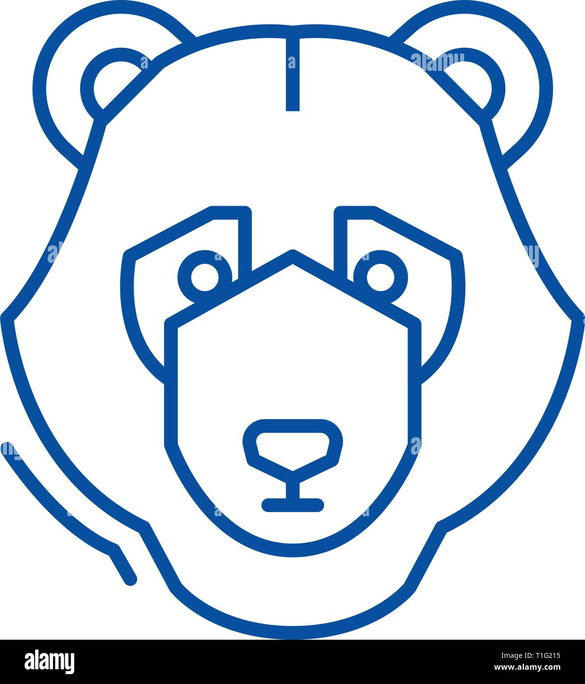 Bear trend line icon concept. Bear trend flat  vector symbol, sign, outline illustration. Stock Vector