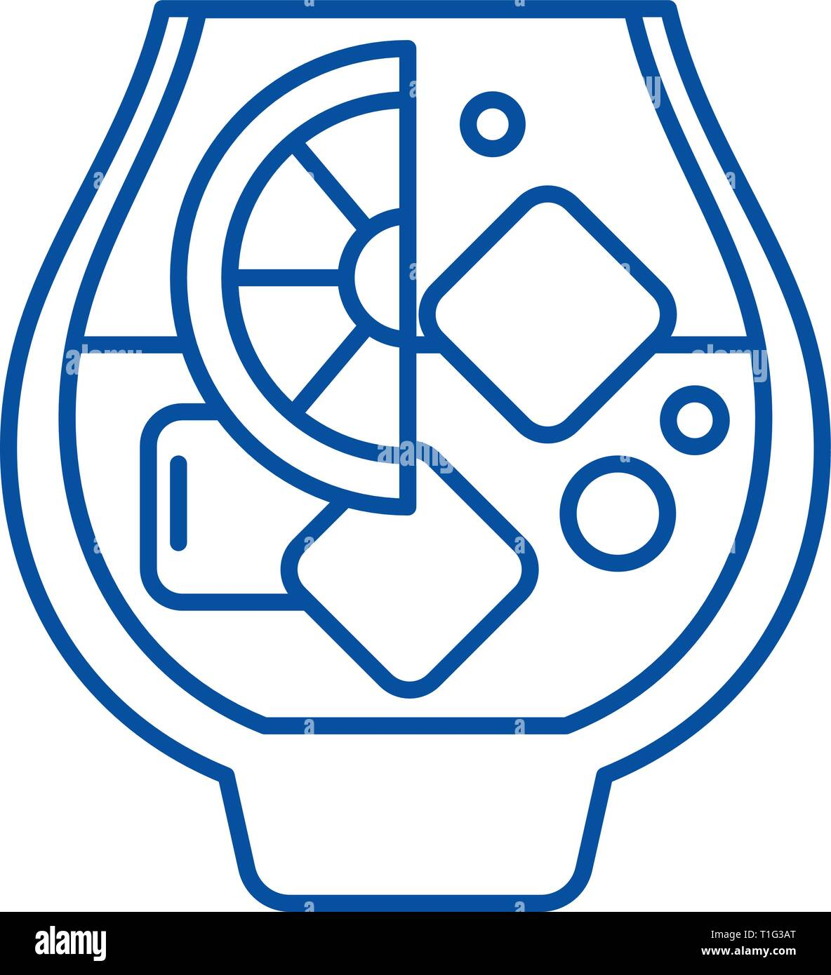 Brandy line icon concept. Brandy flat  vector symbol, sign, outline illustration. Stock Vector
