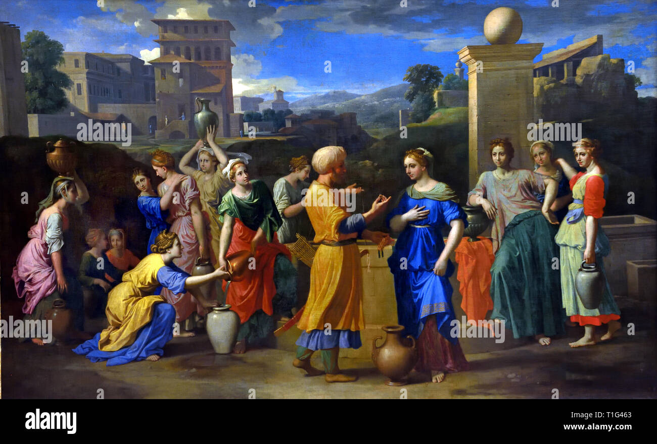Eliezer and Rebecca – painted for Pointel (1648) Nicolas Poussin 1594-1665 France French - Stock Image