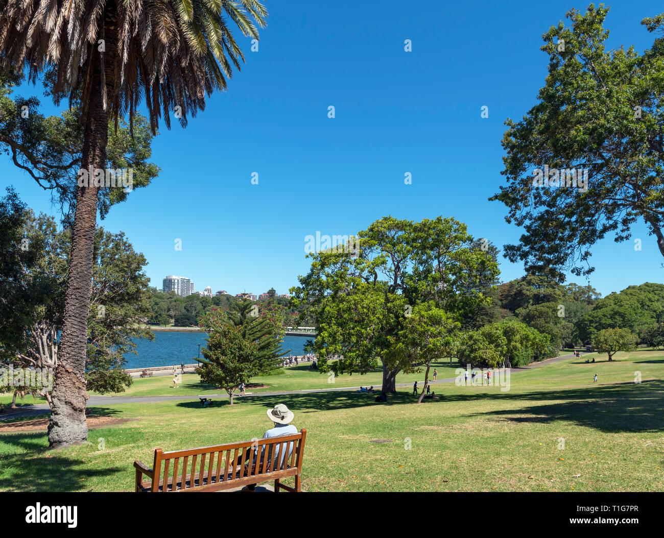The Royal Botanic Garden, Sydney, Australia - Stock Image