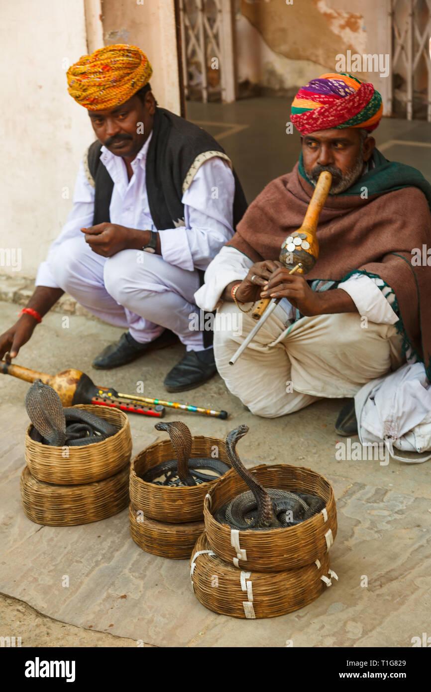 India Snake Charmer Basket Stock Photos & India Snake