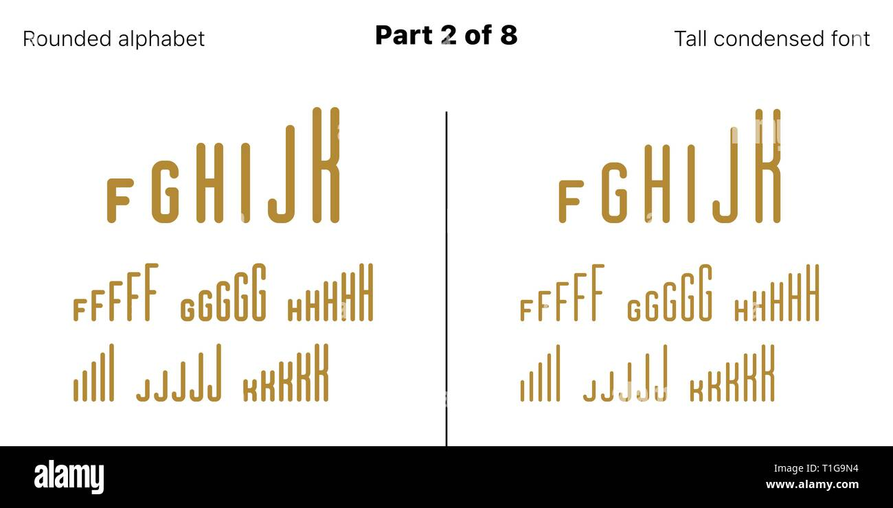 Condensed bold sans serif font rounded vector golden typefaces part 2 of 8