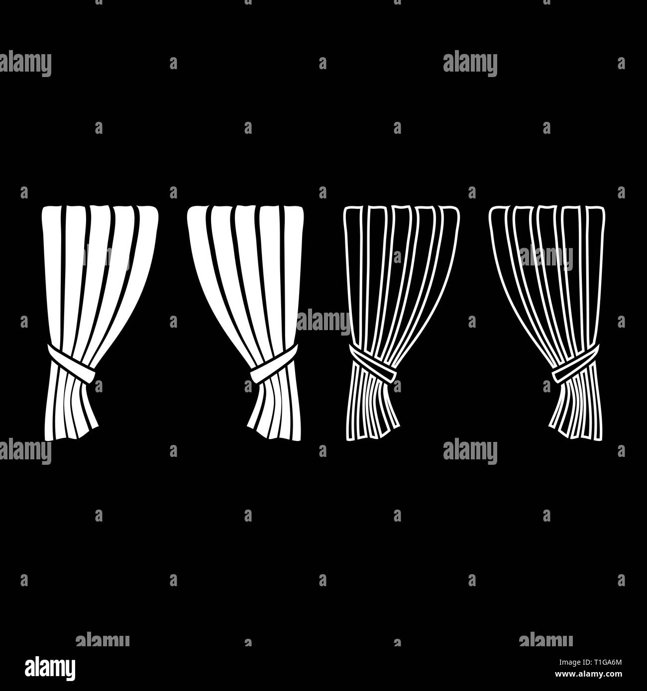 Curtains Blind Curtain Shutter Curtain Shade Portiere drapes for ceremony performance Luxurious curtains Grand opening announcement stage Stock Vector