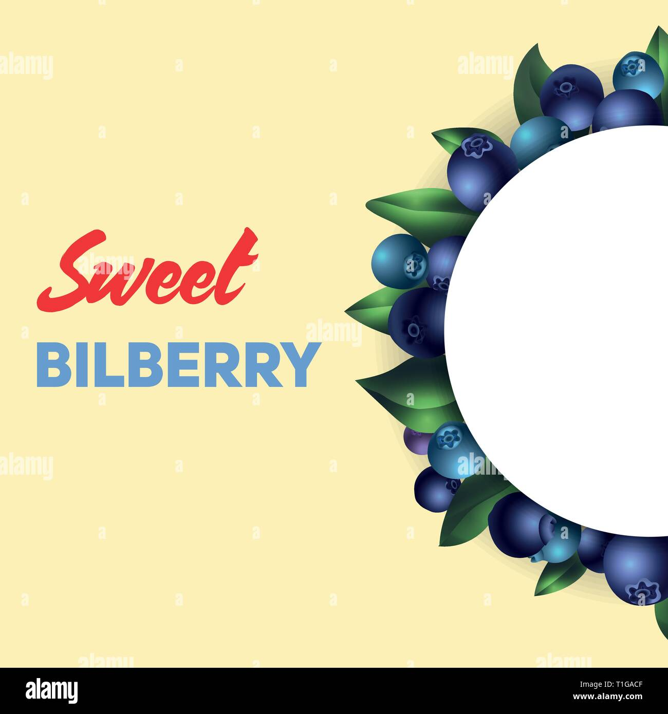 Sweet bilberry concept background. Cartoon illustration of sweet bilberry vector concept background for web design - Stock Vector