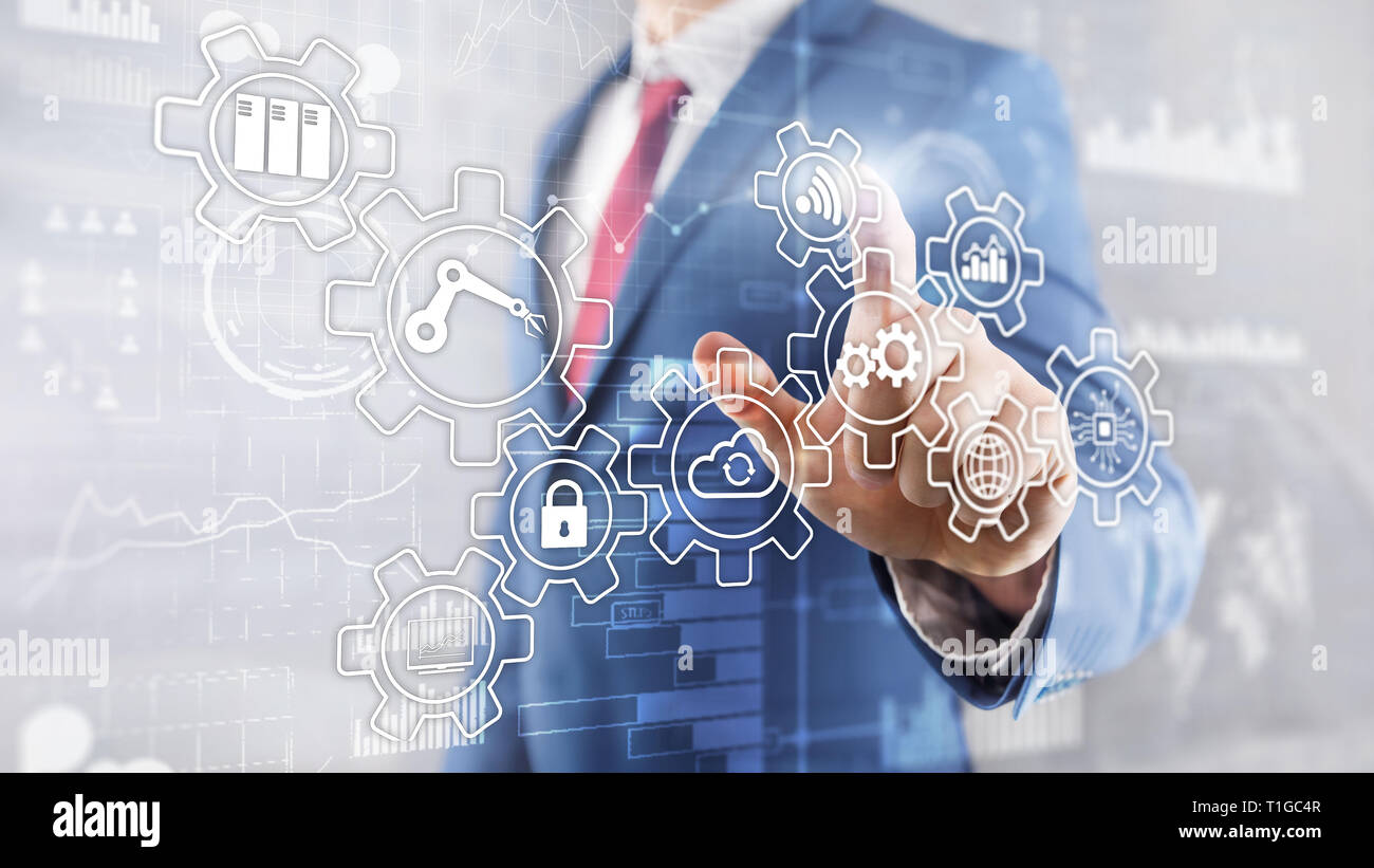 Technology innovation and process automation. Smart industry 4.0. Stock Photo