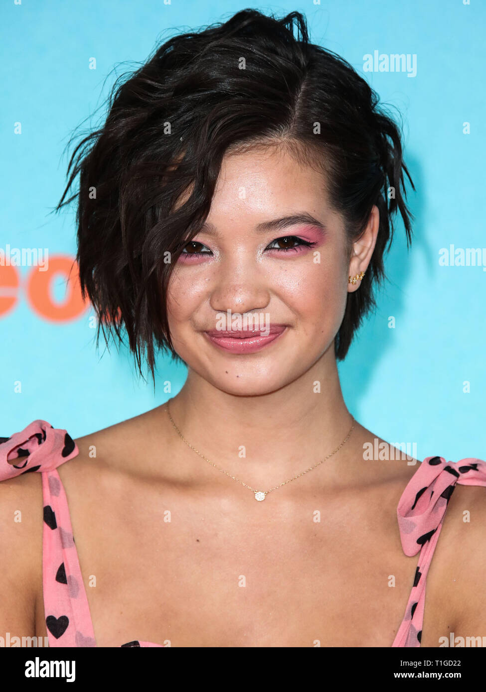 LOS ANGELES, CA, USA - MARCH 23: Peyton Elizabeth Lee arrives at Nickelodeon's 2019 Kids' Choice Awards held at the USC Galen Center on March 23, 2019 in Los Angeles, California, United States. (Photo by Xavier Collin/Image Press Agency) - Stock Image