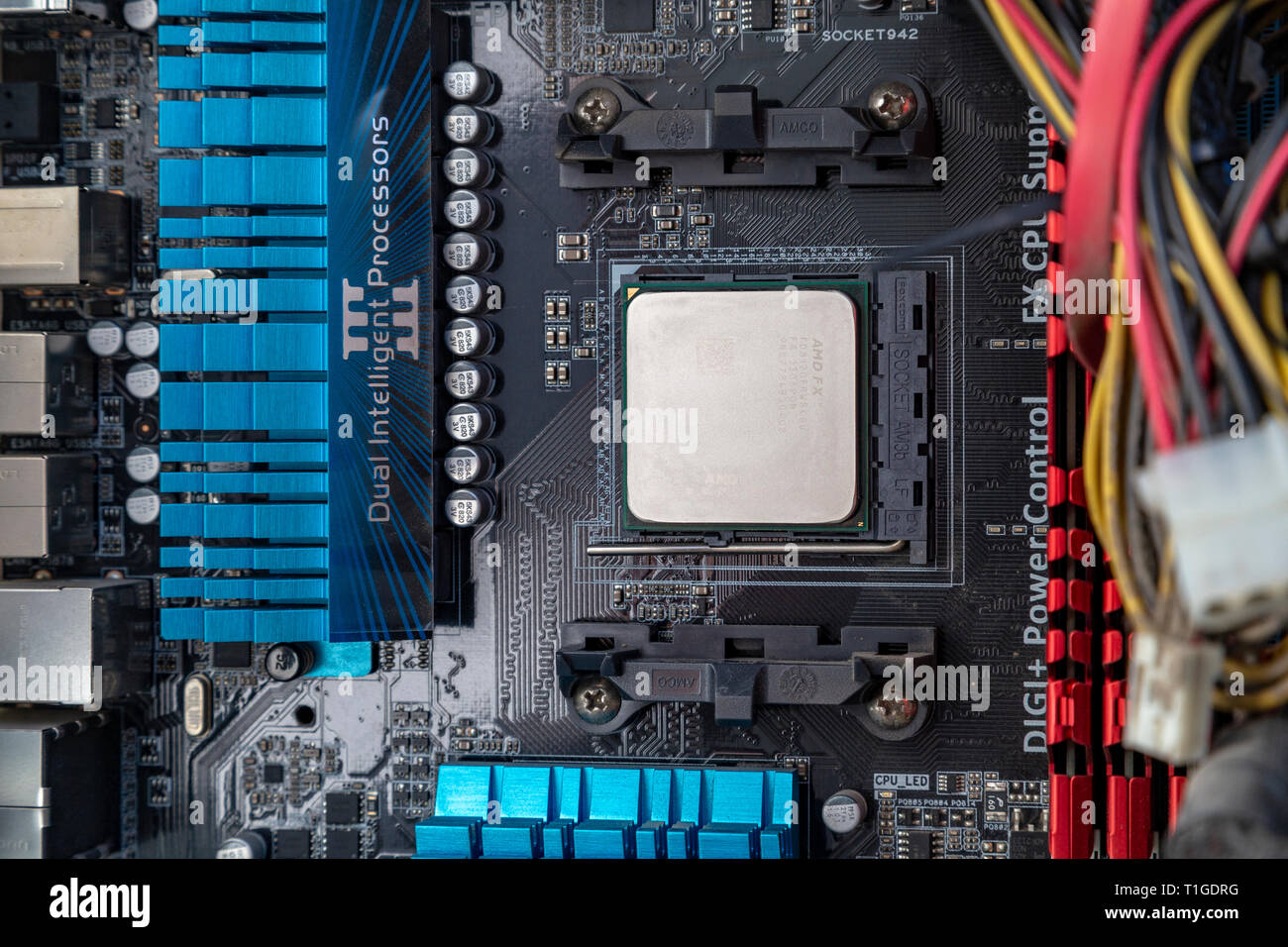 Amd processor and Asus Motherboard Stock Photo: 241921892