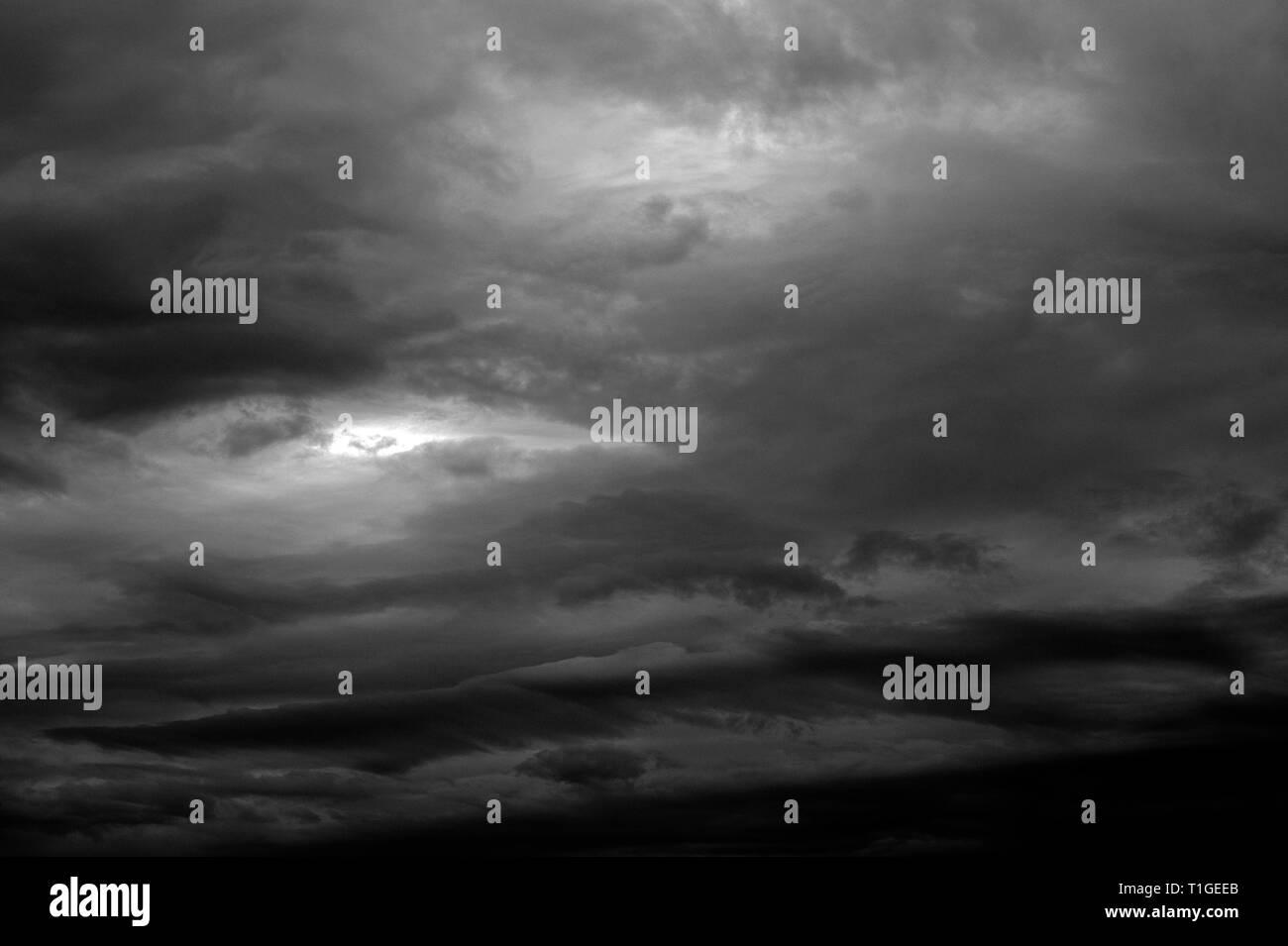 Stratocumulus Clouds toward sunset Stock Photo