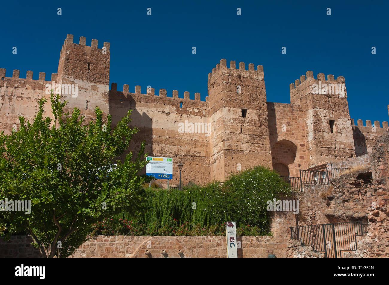 Castle of Burgalimar (10th century). Baños de la Encina. Jaen province. Region of Andalusia. Spain. Europe - Stock Image