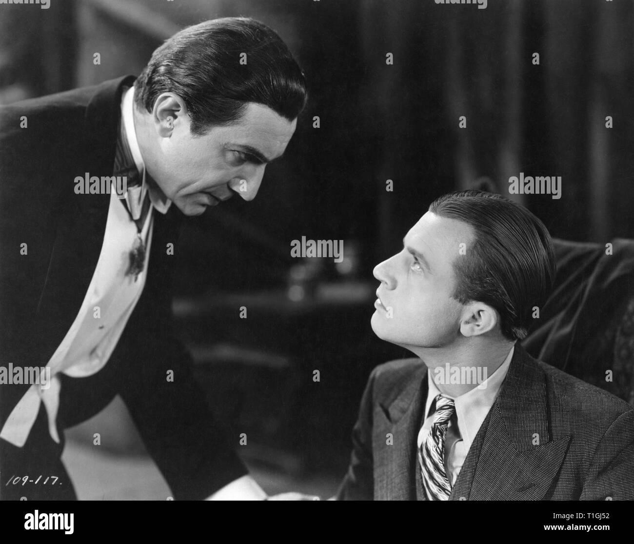 Bela Lugosi as Count Dracula Dwight Frye as Renfield DRACULA 1931 director Tod Browning novel Bram Stoker Universal Pictures - Stock Image