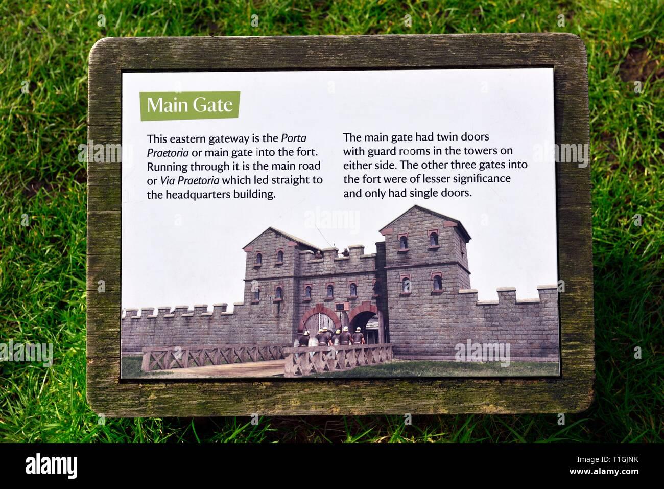 Ambleside Roman Fort,Lake District,Cumbria,England,UK Stock Photo