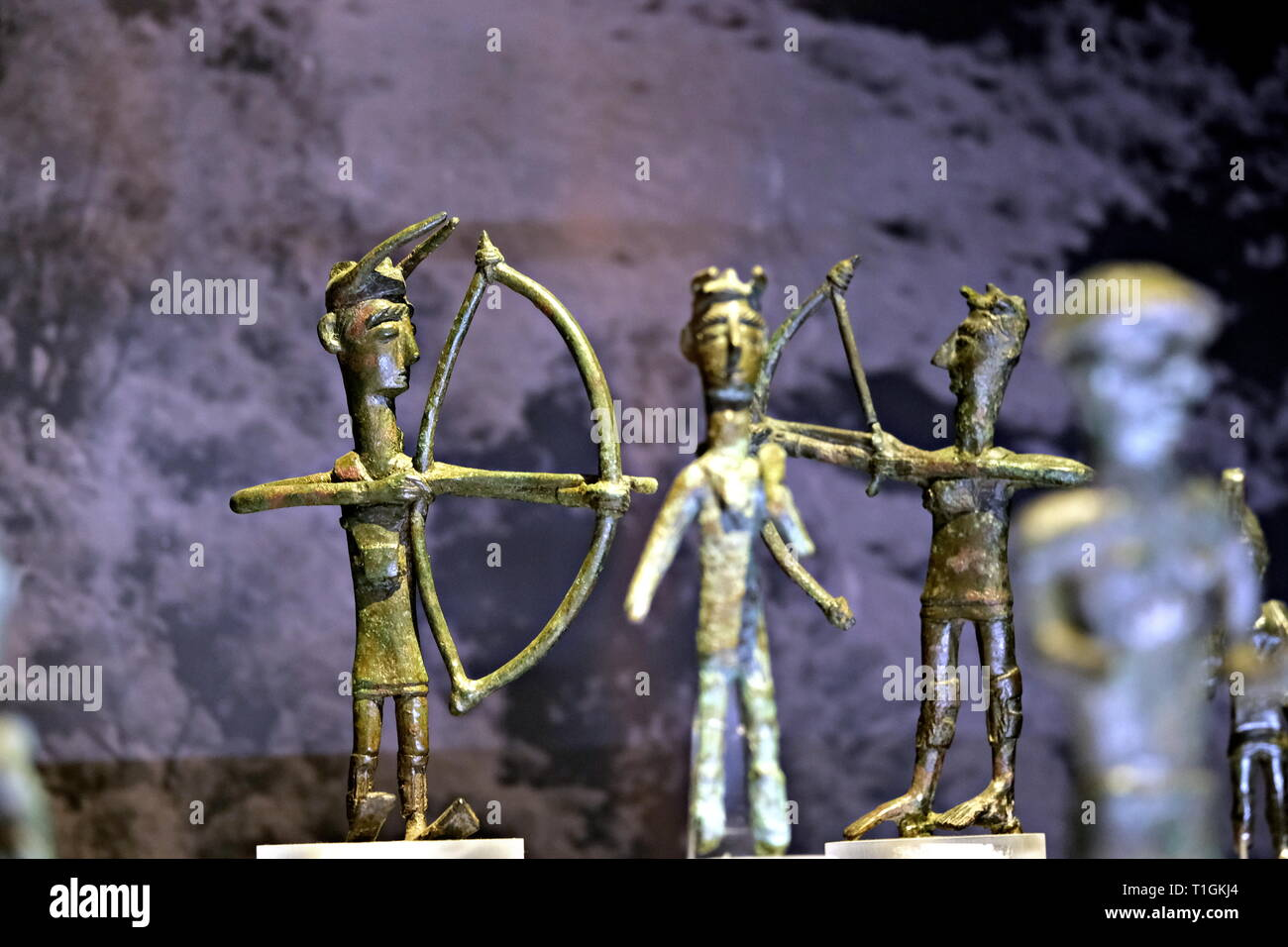 Nuragic bronzes with archery - Stock Image