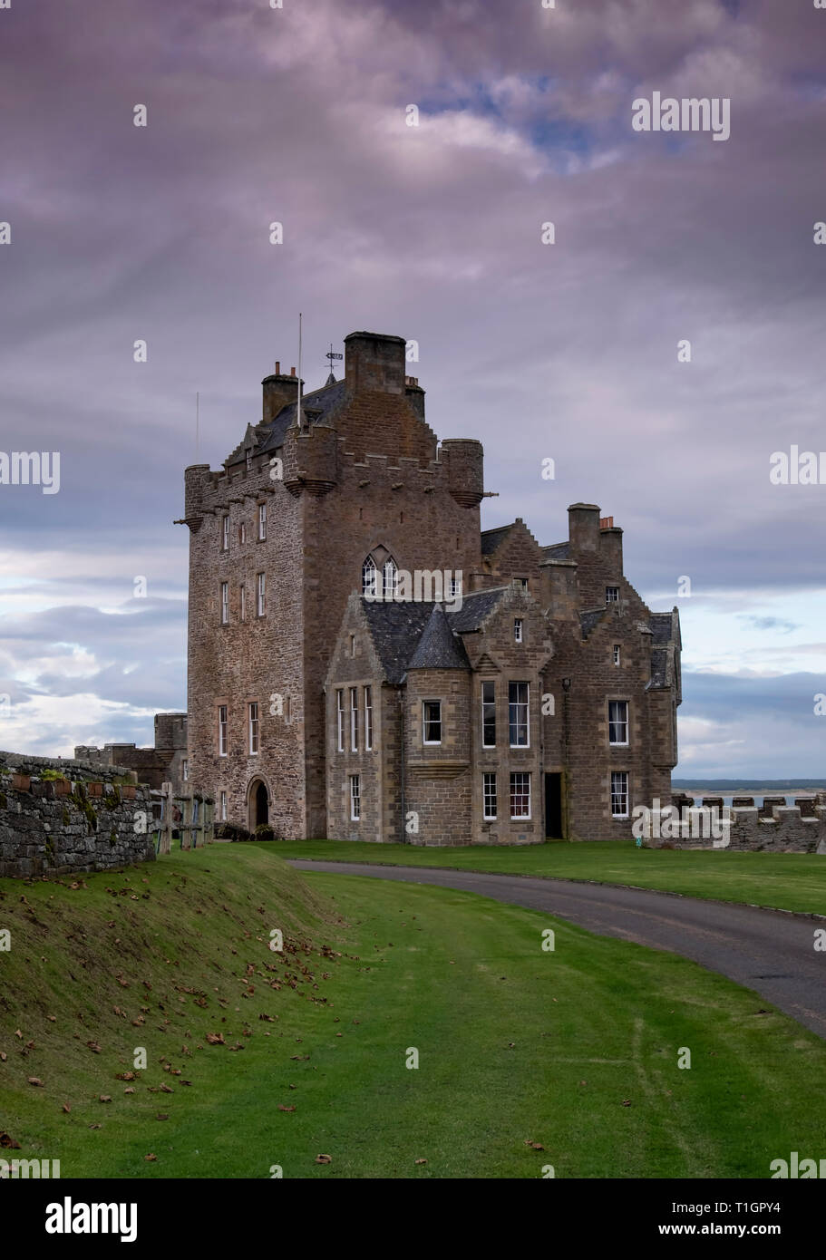 Ackergill Tower, Caithness, Highlands, Scotland, UK - Stock Image