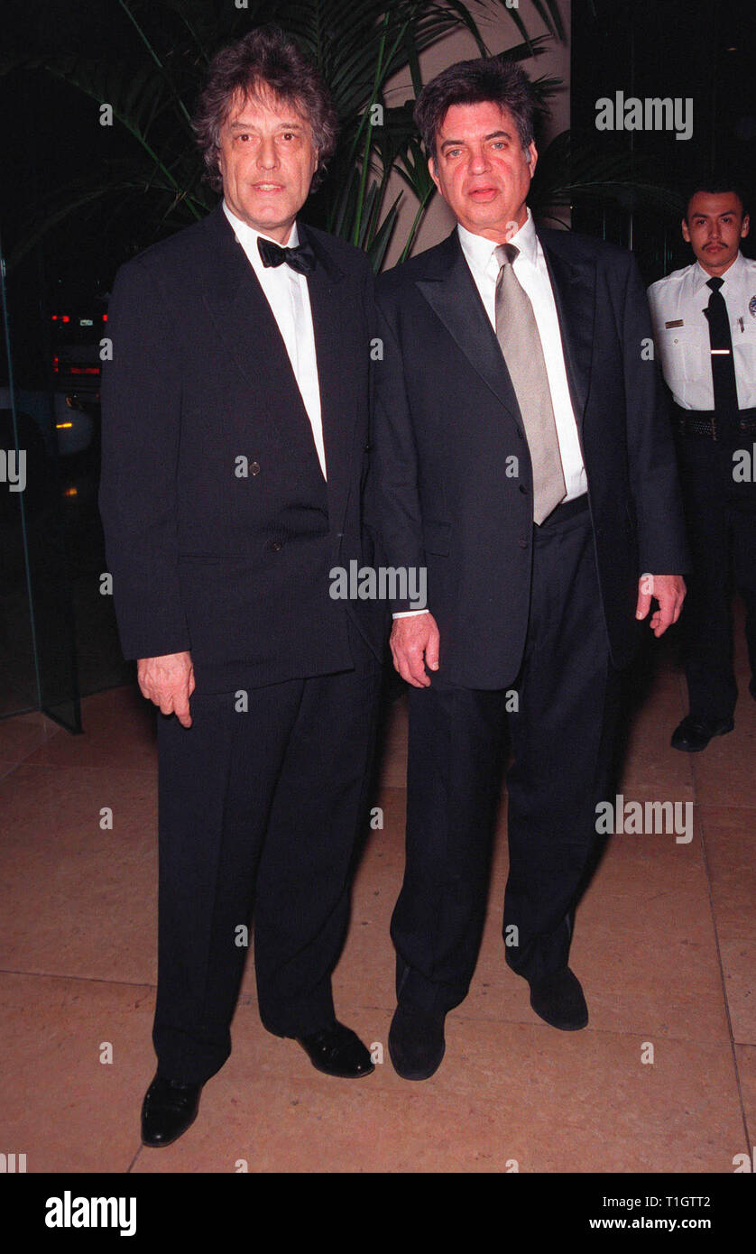 LOS ANGELES, CA - February 20, 1999: Writers TOM STOPPARD (left) & MARC NORMAN at the Writers Guild Awards in Beverly Hills. They won the night's top award - Best Screenplay Written Directly for the Screen - for 'Shakespeare in Love.'   © Paul Smith / Featureflash - Stock Image