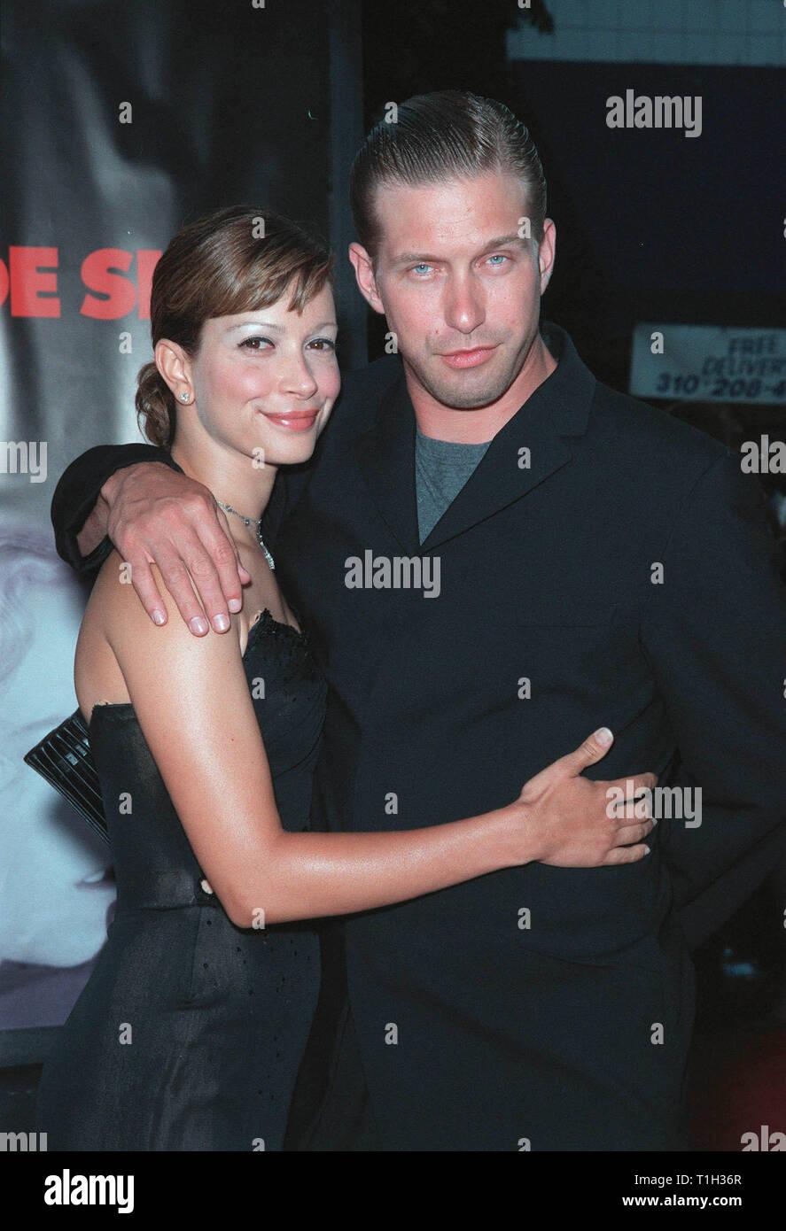 LOS ANGELES, CA  July 13, 1999: Actor STEPHEN BALDWIN & wife