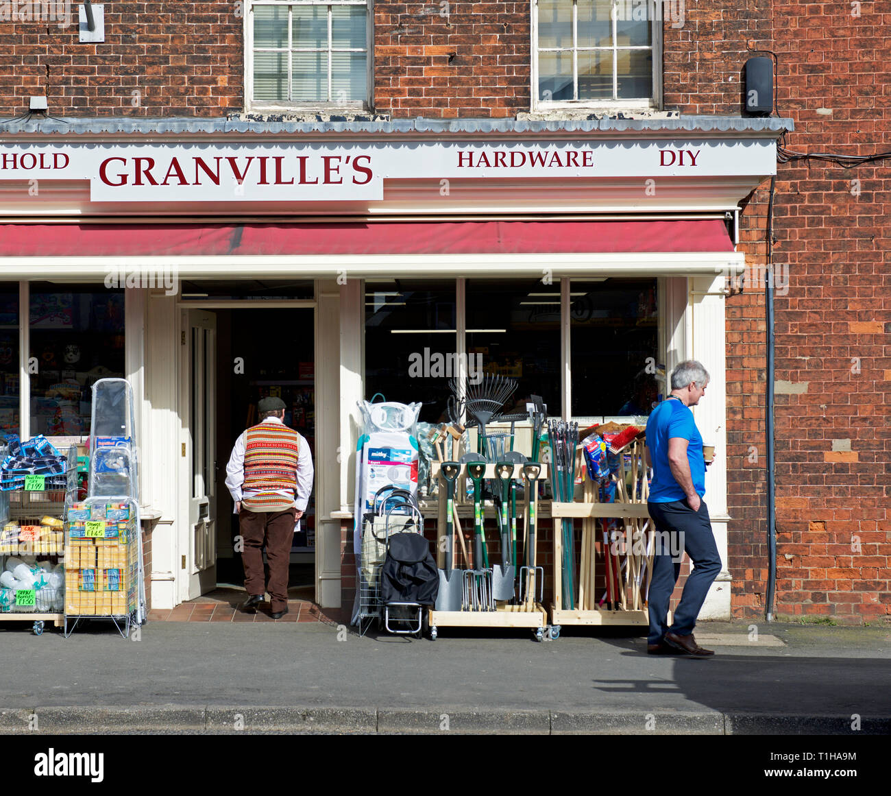 Hardware shop, Granville's, in Market Weighton, East Yorkshire, England UK - Stock Image