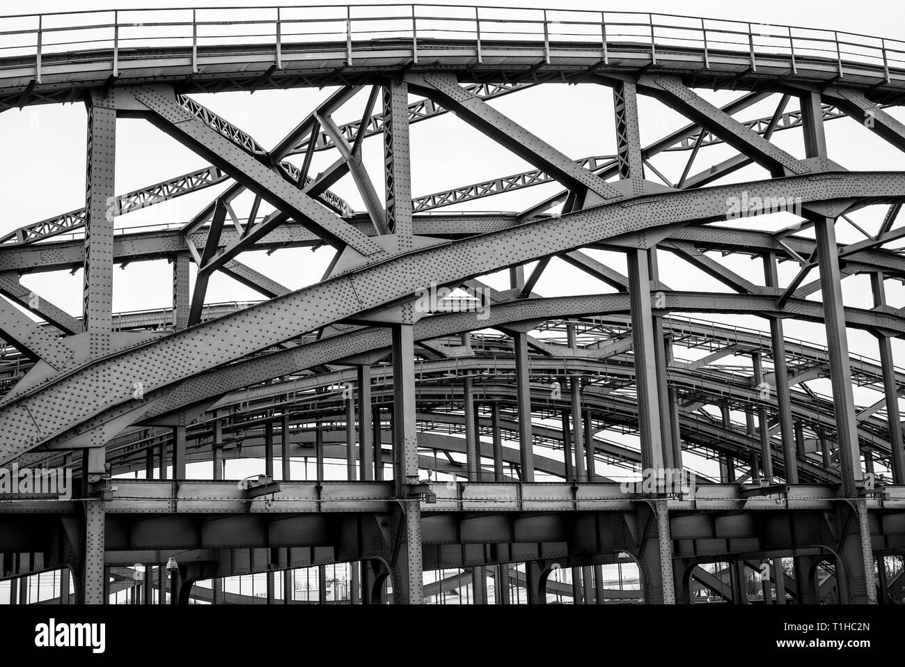 Elbbrücken in Hamburg, Deutschland - Stock Image