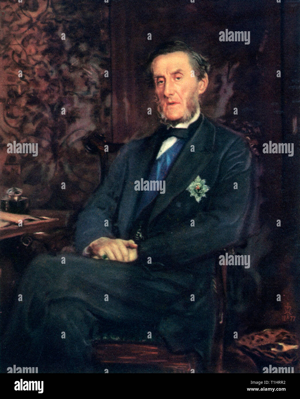 Anthony Ashley-Cooper, Seventh Earl of Shaftesbury, 1877. By Sir John Everett Millais (1829-1896). Anthony Ashley-Cooper, Seventh Earl of Shaftesbury (1801-1885), English politician, philanthropist and social reformer. - Stock Image