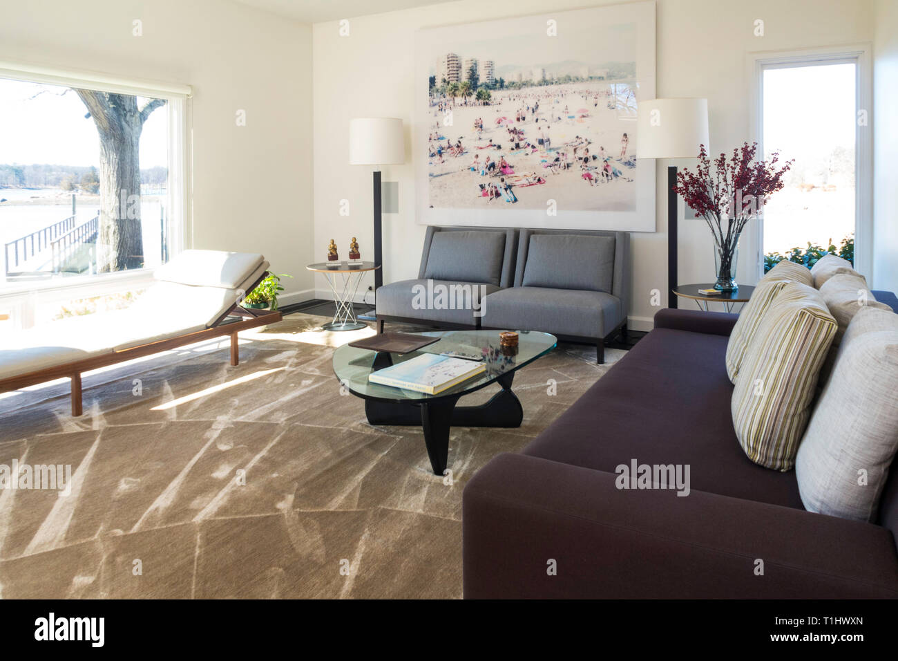 Showcase Home Interior, USA Stock Photo