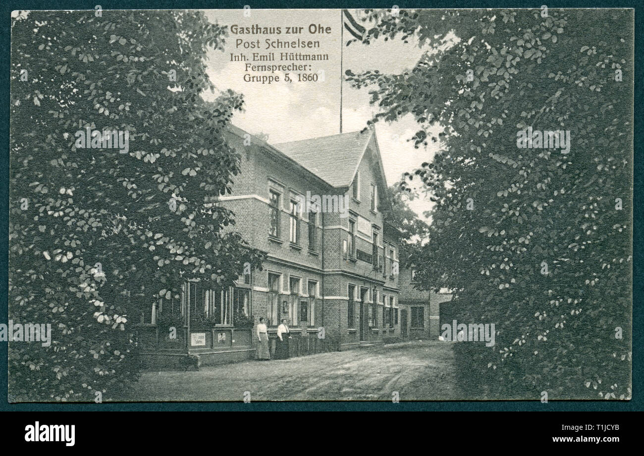 geography / travel, Germany, Hamburg, Schnelsen, restaurant ' zur Ohe', Emil Hüttmann, postcard, sent between 1914-1918, published by Max Wolff, Berlin., Additional-Rights-Clearance-Info-Not-Available - Stock Image
