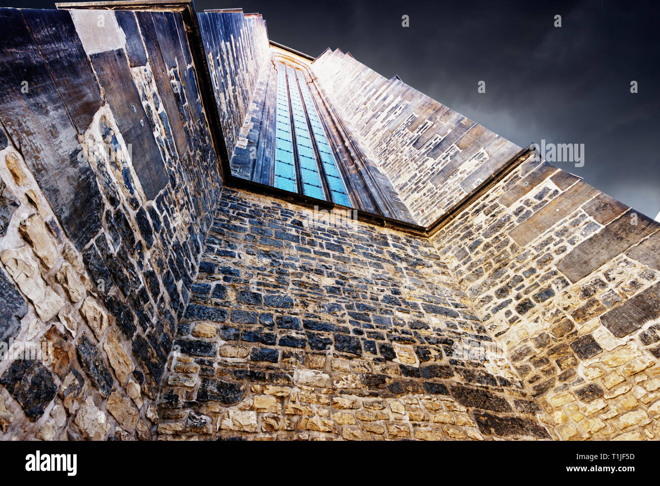 Wall of medieval building - Stock Image