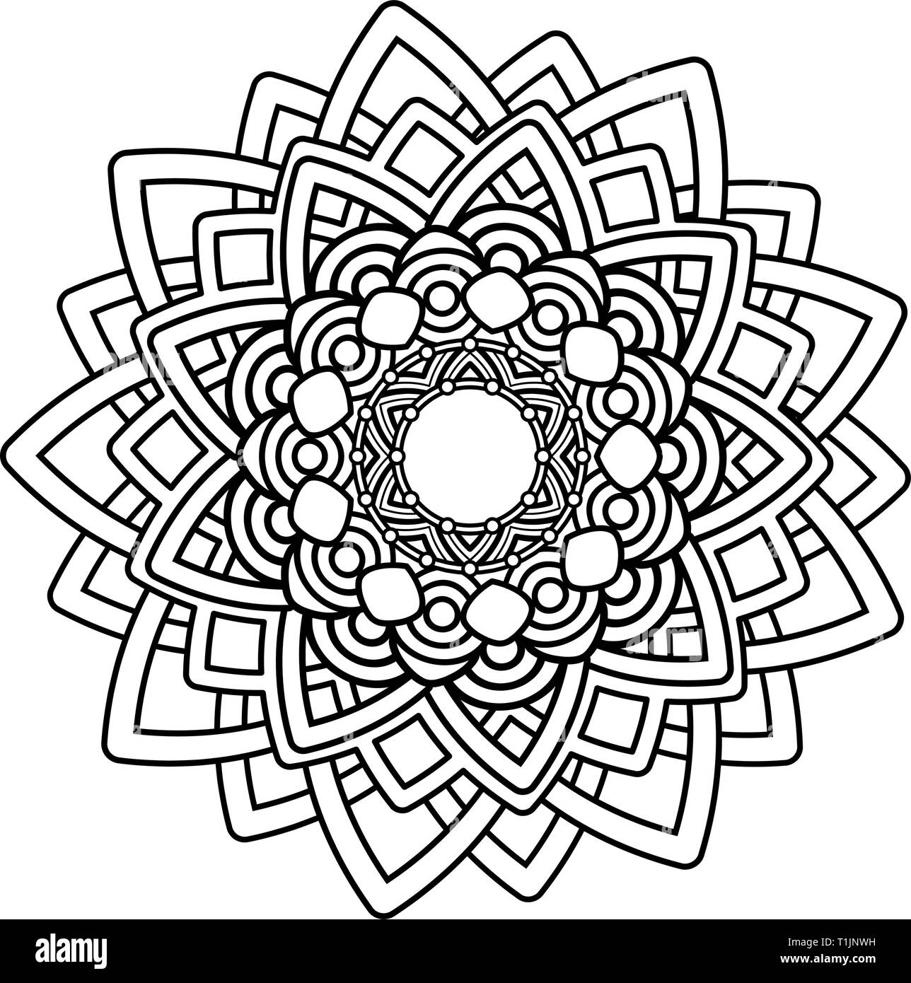 Mandala Coloring Pages Images, Stock Photos & Vectors | Shutterstock | 1390x1288