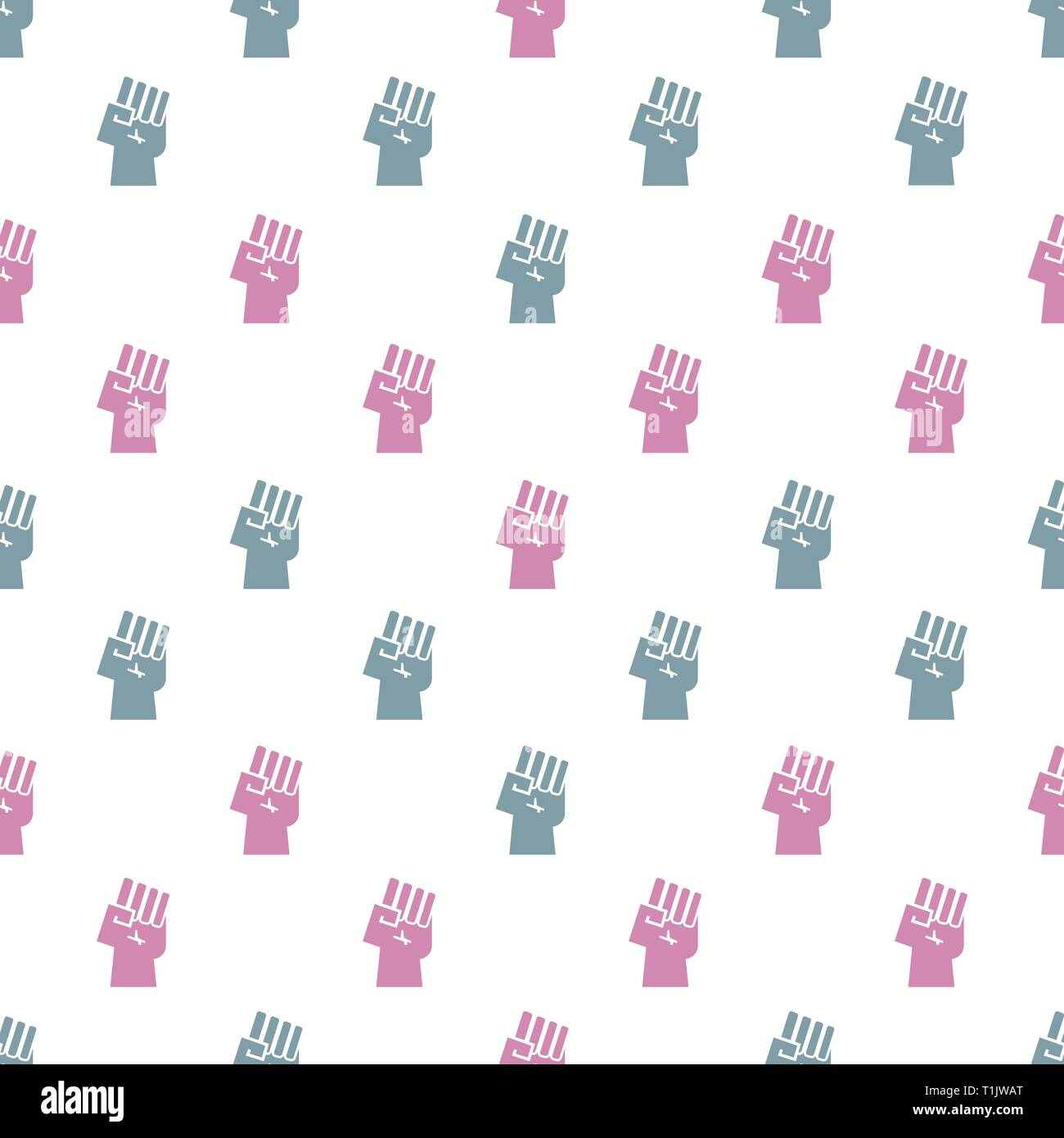 Power Fist texture, wallpaper, pattern - Stock Vector