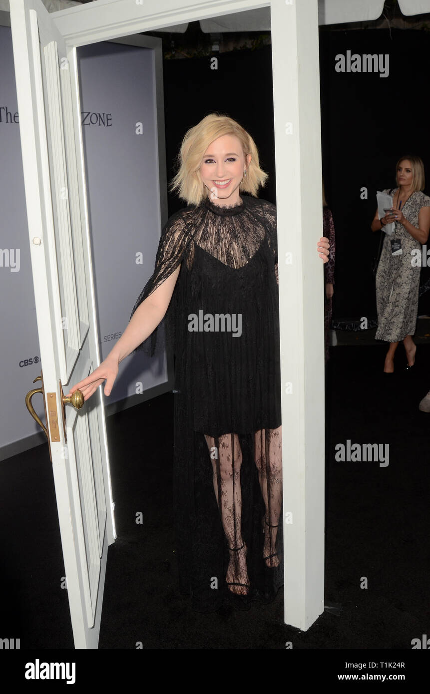 Los Angeles, CA, USA. 26th Mar, 2019. LOS ANGELES - MAR 26: Taissa Farmiga at ''The Twilight Zone'' Premiere at the Harmony Gold Theater on March 26, 2019 in Los Angeles, CA Credit: Kay Blake/ZUMA Wire/Alamy Live News - Stock Image
